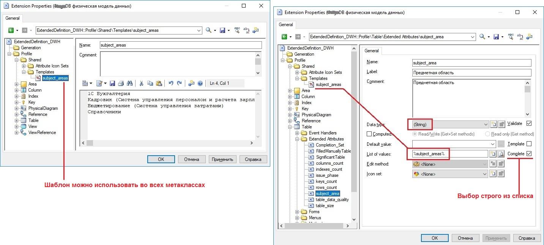 Добавление дополнительного атрибута метакласса «Table» в расширении модели SAP PowerDesigner