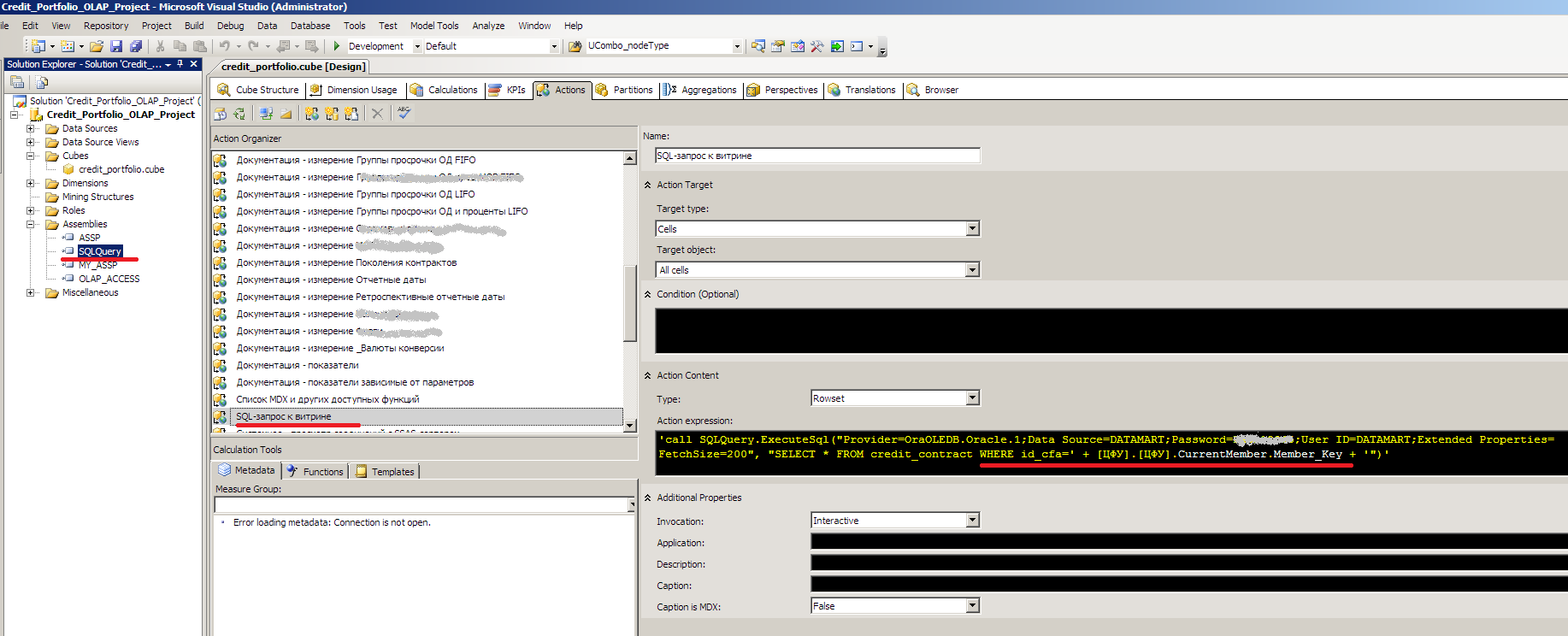 SSAS SQL Query